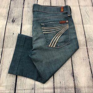 7 For All Mankind Bermuda Jean Shorts - Sz 30
